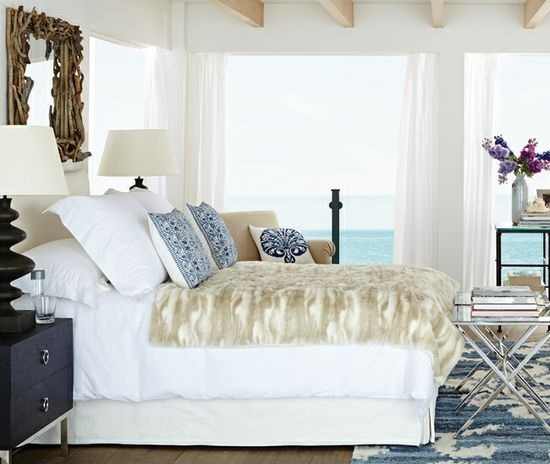 Driftwood Mirror above Bed