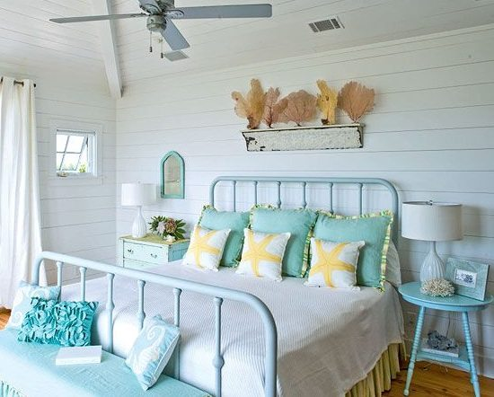 Molding as Shelf above Bed