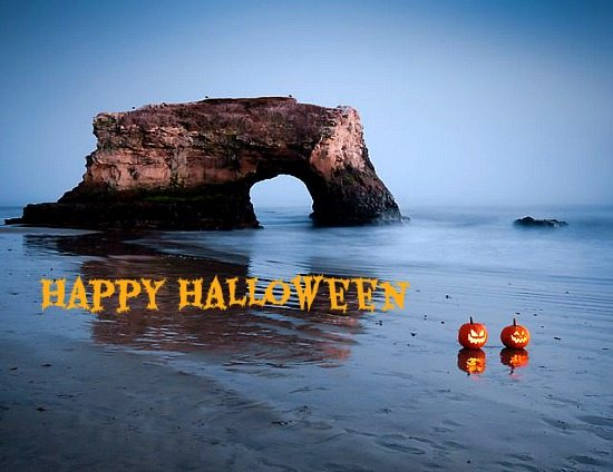 Jack-o-Lantern Halloween on Beach