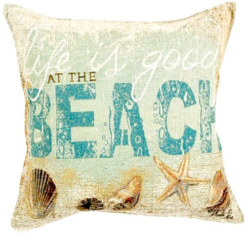 Life is Good at the Beach Pillow