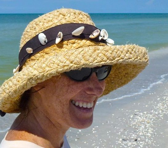 Shelling on Sanibel with Sun Hat