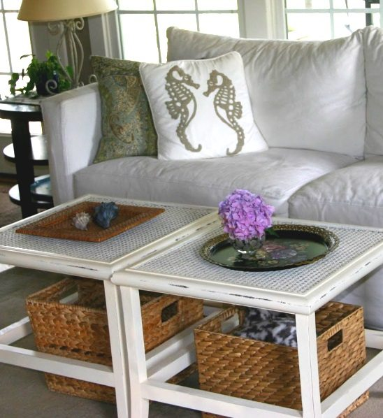 Storage Baskets under Coffee Table