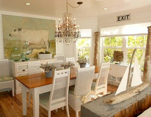 Pure White Decor In A Remodeled Vintage Beach Cottage On