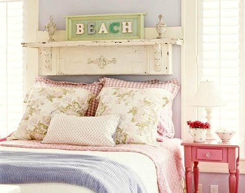 Vintage Fire Place Mantel Above Bed