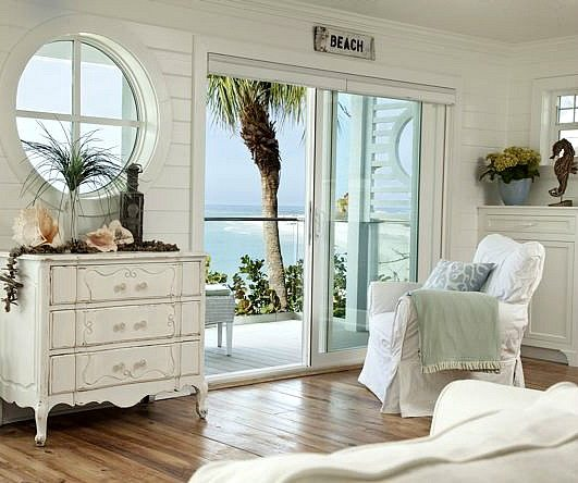 Pure White Decor in a Remodeled Vintage Beach Cottage on  : white vintage beach cottage from beachblissliving.com size 531 x 444 jpeg 49kB