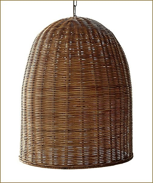 Wicker Basket Hanging Light Pendant