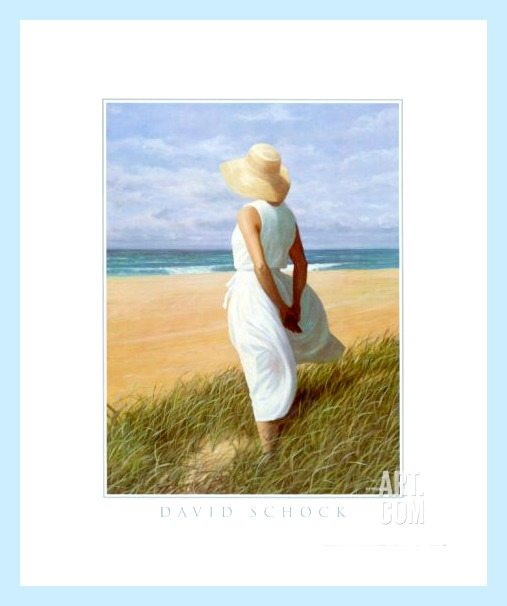 Woman Looking to Sea