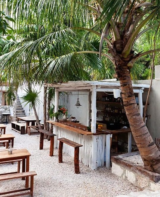 Tulum Bars and Restaurant Tiki Huts