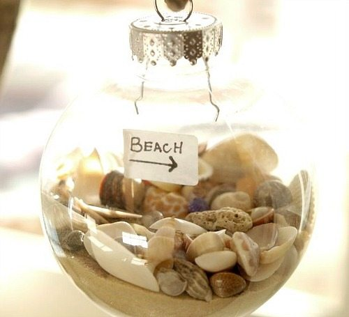Beach christmas decorations ideas inspired by sea sand - Shell decorations how to make ...