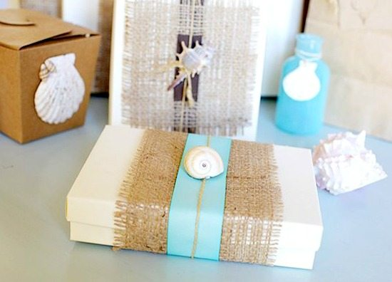 Beach Gift Wrapping Idea