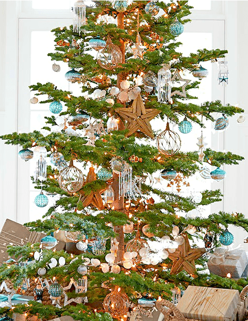Beachy Christmas Tree Pottery Barn