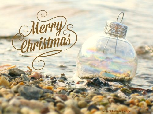 Glass Christmas Ornament on the Beach