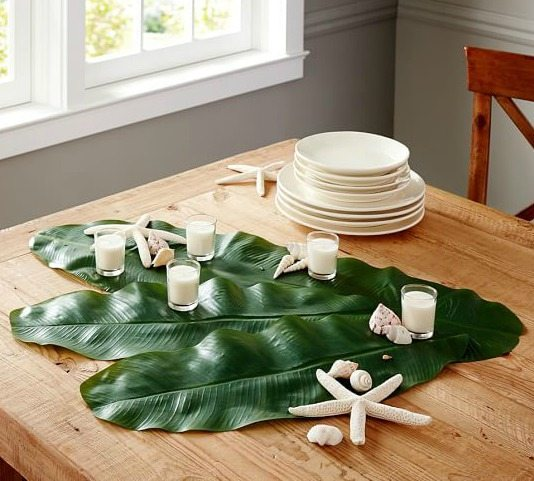 Faux Palm Leaves Decor