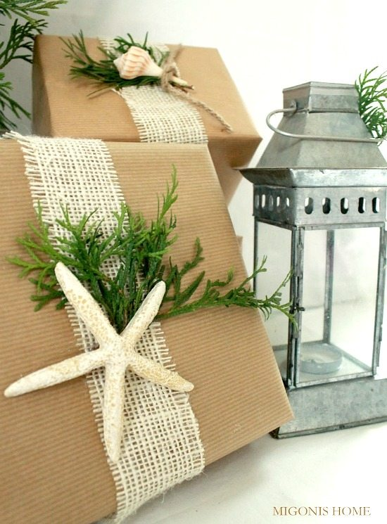 Kraft Paper Burlap Gift Wrapping