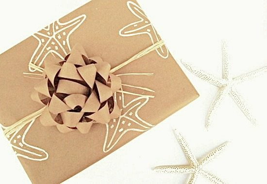 Kraft Paper with Stencils Gift Wrap