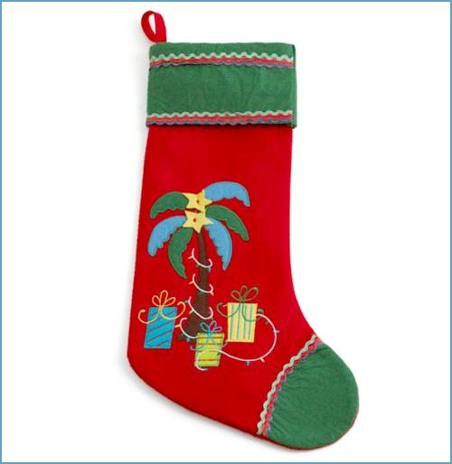 Palm Christmas Stocking