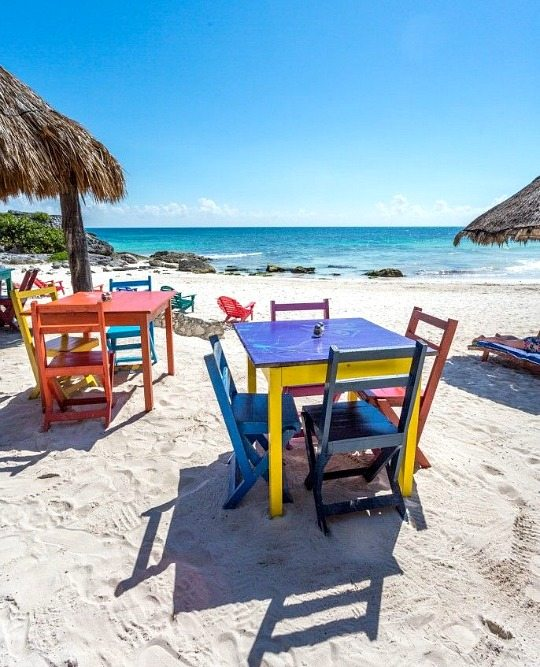 Beach town Tulum Mexico