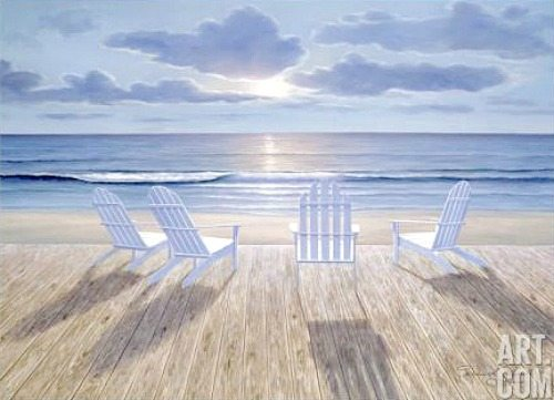 Adirondack Beach Chairs Painting