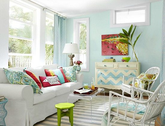Colorful Beach Cottage Remodel From Hgtv Magazine Beach Bliss Living Decorating And