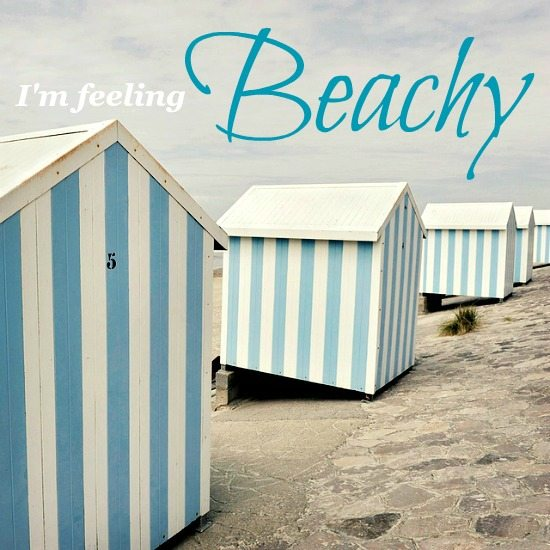 Blue Striped Beach Huts