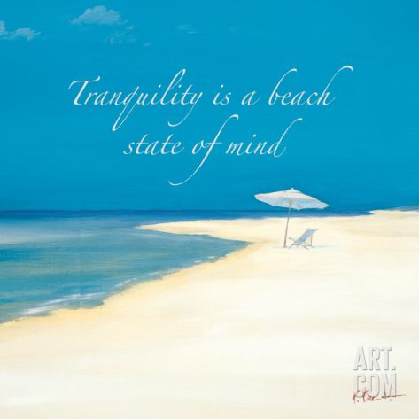 Beach Print with Quote by Paul Brent