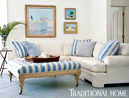 Cabana Stripe Decor Living Room
