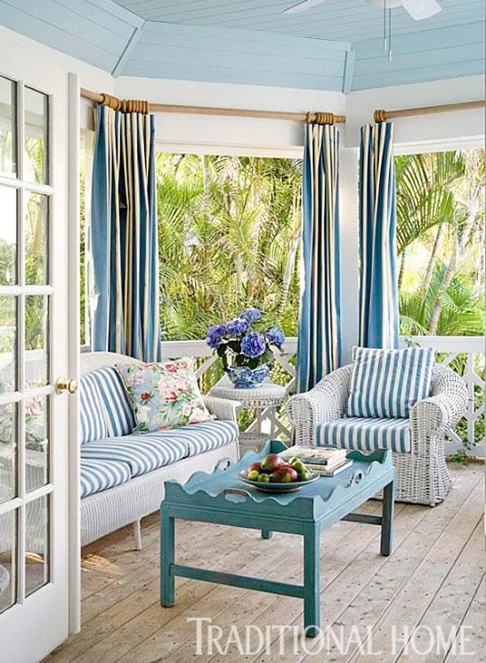 Cabana Stripe Gazebo Porch