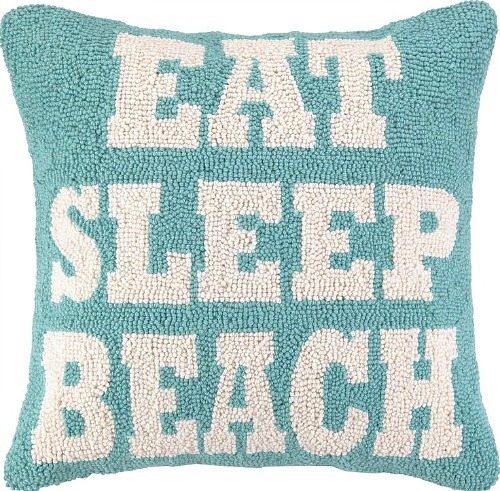 Eat Sleep Beach Pillow