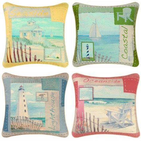 Paul Brent Scenic Beach Art Pillows