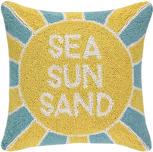Sea Sun Sand Pillow