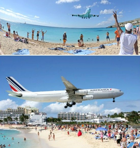 Maho Beach near Airport in St Marteen