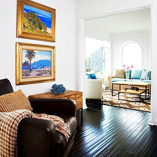 Bright Orange Living Room Accessories: Bright Blue And Orange For A Happy Laguna Beach Home