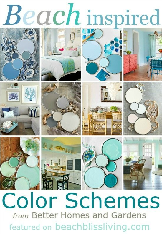 Paint color schemes inspired from beach colors beach Better homes and gardens living room ideas