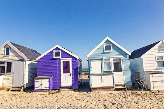Colorful Beach Huts England