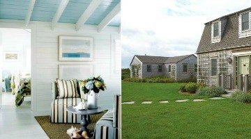 Cottage Living on Nantucket with a Pinch of Seafaring & Dreamy Blue