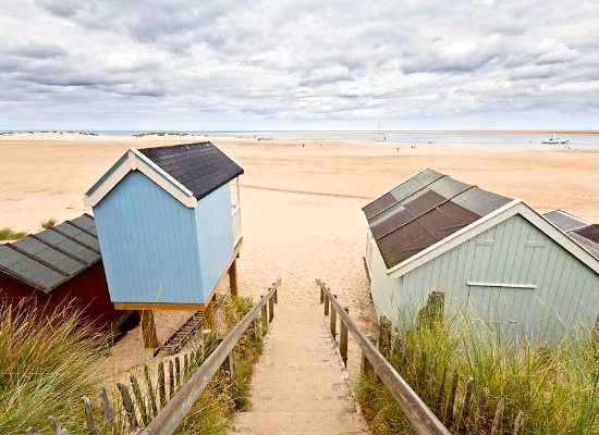 Wells Norfolk Beach with Huts