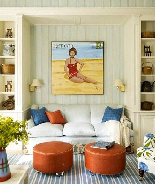Beach Painting over Sofa
