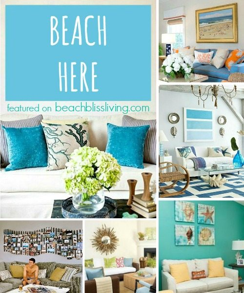 Beach Wall Decor Ideas for Above Sofa