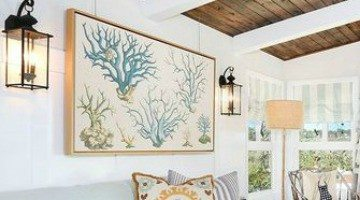 Using Beach Fabric as Wall Art
