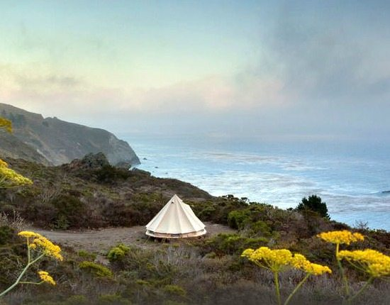 Glamping in California Big Sur in Tents and Yurts