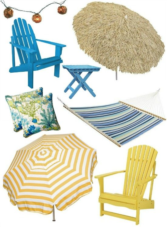 Outdoor Patio Porch Beach Decor from Target