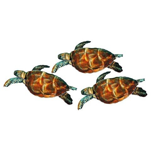 Outdoor Wall Art Sea Turtles