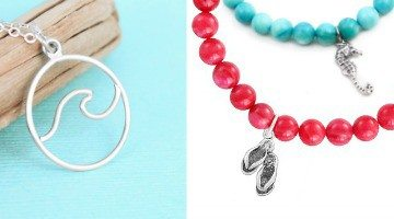 Beach Resort Jewelry in Silver & Bright Summer Colors