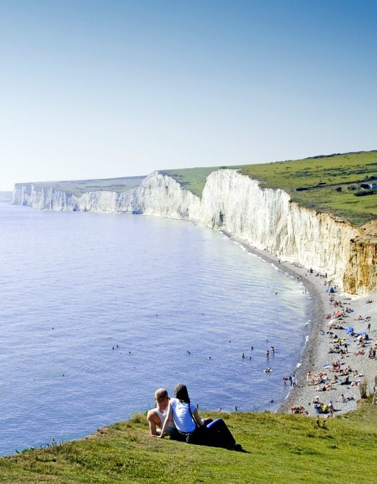 Seven Sisters Beach in Sussex England