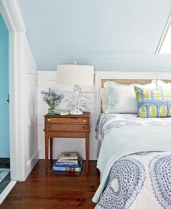 Small Blue Bedroom Island Style