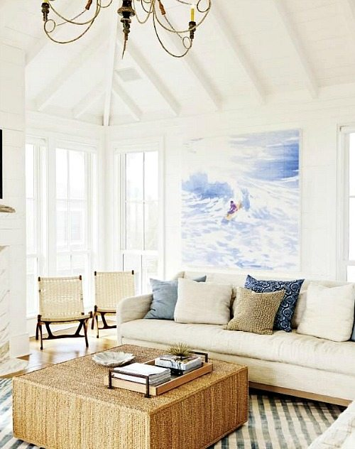 Surf Art Over Sofa Living Room Wall Decor