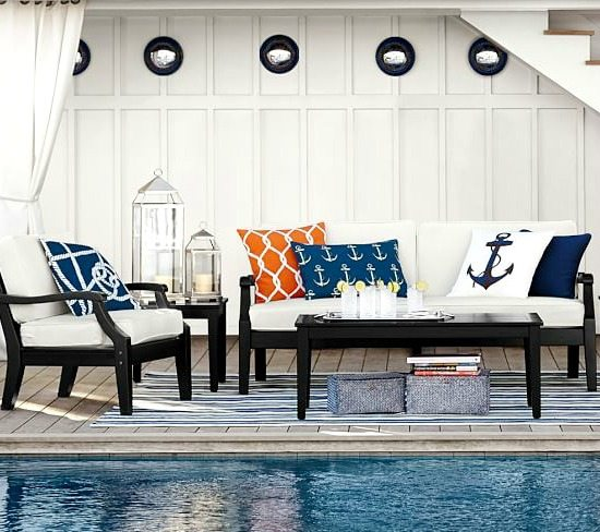 Outdoor Seaside Pillows from Pottery Barn