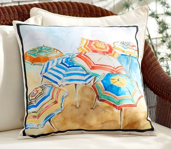 Beach Umbrella Pillow