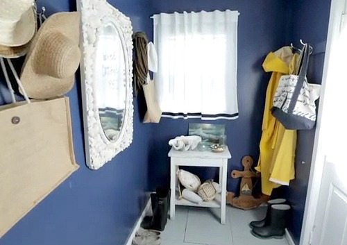 Blue Painted Mudroom