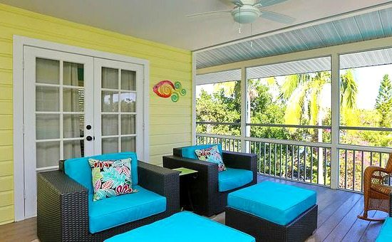 Yellow and Blue Porch